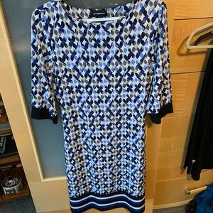 Liz Claiborne medium dress blues and white